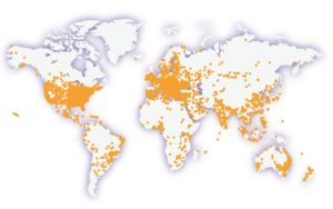 Statistics Map of Hour of Code