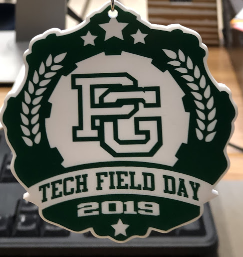 3D printed PG Tech Field Day 2019.