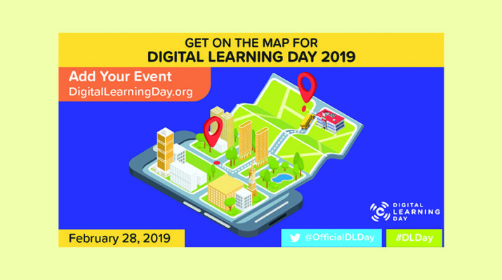 Digital learning day map.