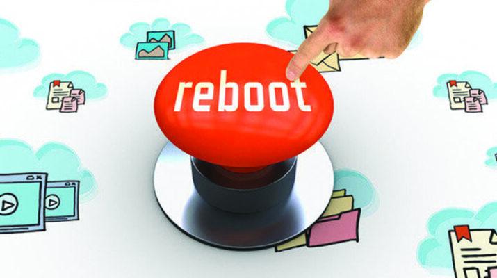 "A ""reboot"" button."